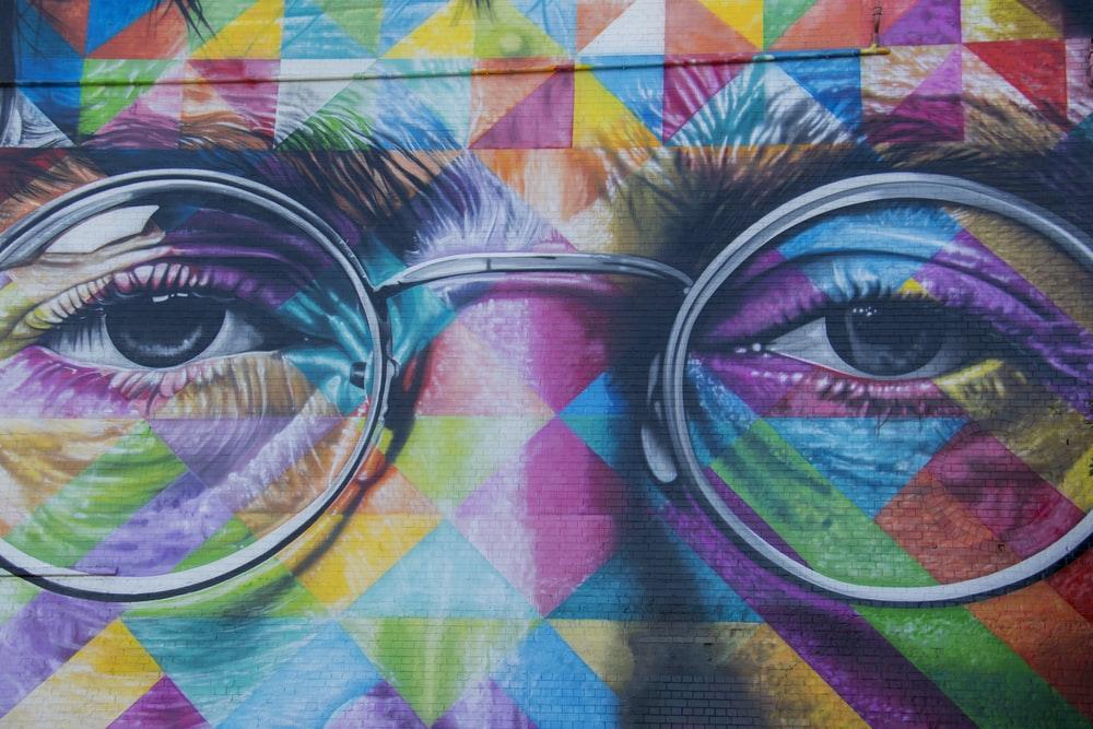 A vibrant urban art piece